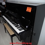 YAMAHA U1 secondhand piano, black color, exam model, used 15 years