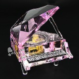 Crystal Grand Piano Music Box - Pink Color