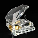 Crystal Grand Piano Music Box - Transparent